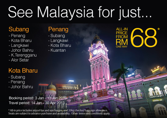 Firefly Promotion - See Malaysia for just RM68