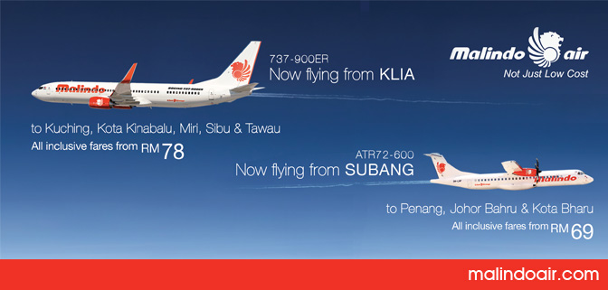 Fly from KLIA, Fly from Subang