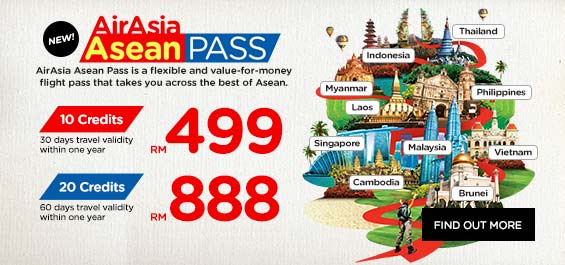 AirAsia Asean Pass is a flexible and value-for-money flight pass that takes you across the best of Asean.