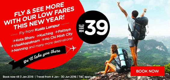 Fly & see more with AirAsia's low fares this new year
