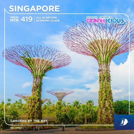 Singapore - all-in return fares from MYR 419