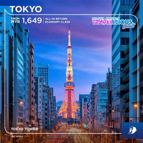 Tokyo - all-in return fares from MYR 1649