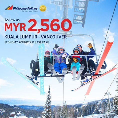 From Kuala Lumpur to Vancouver, from MYR2560
