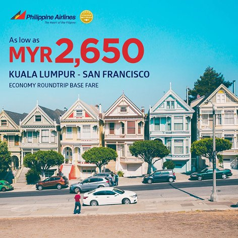 From Kuala Lumpur to San Francisco, from MYR2650