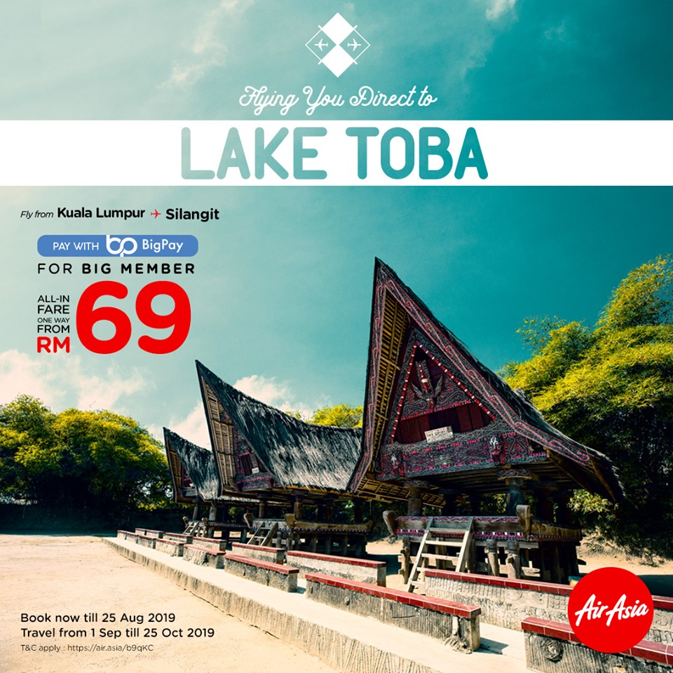 Flying you direct to Lake Toba