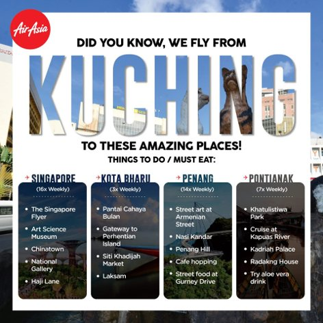 Fly from Kuching