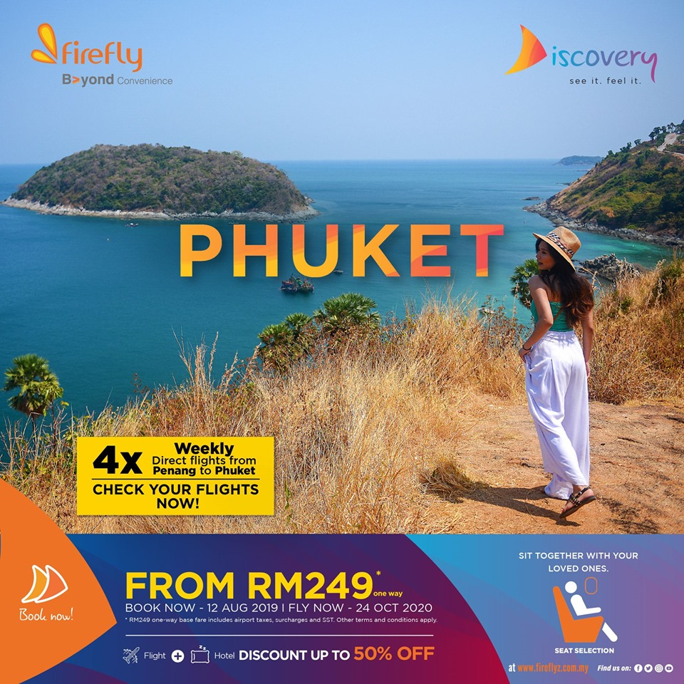 Phuket, 4x weekly from Penang to Phuket
