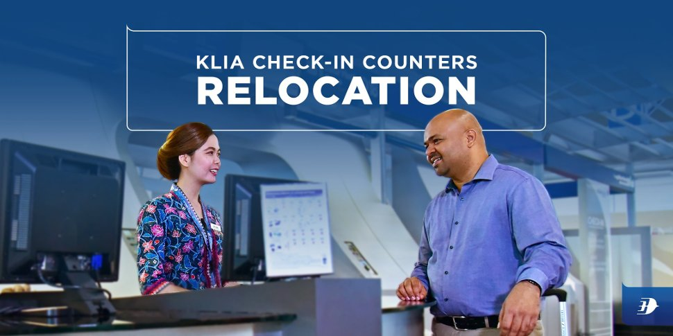 KLIA Check-in Counters Relocation