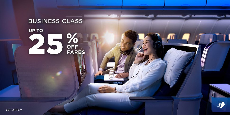 Business Class up to 25% off