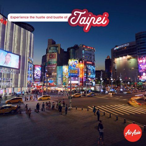 Experience the hustle and bustle of Taipei