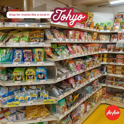 Shop for snacks like a local in Tokyo