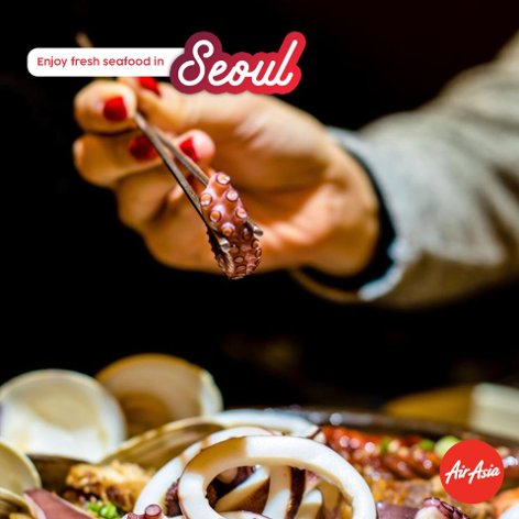Enjoy fresh seafood in Seoul