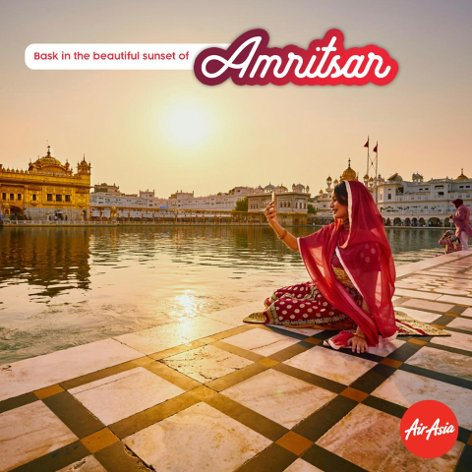 Bask in the beautiful sunset of Amritsar