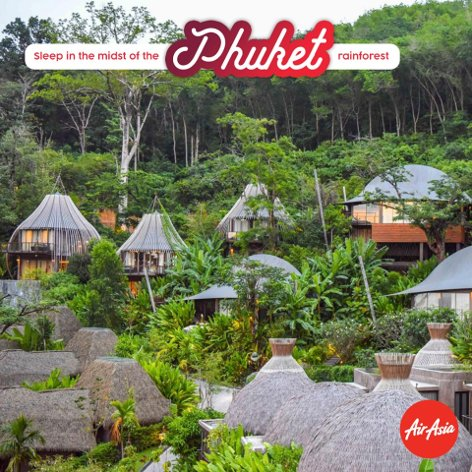 Sleep in the midst of Phuket rainforest