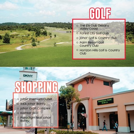Golf and shopping at Johor