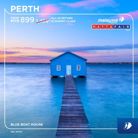 Perth, from MYR899