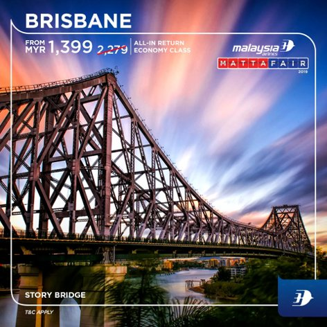 Brisbane, from MYR1399