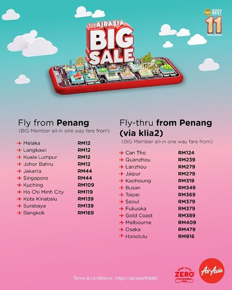 Fly from Penang