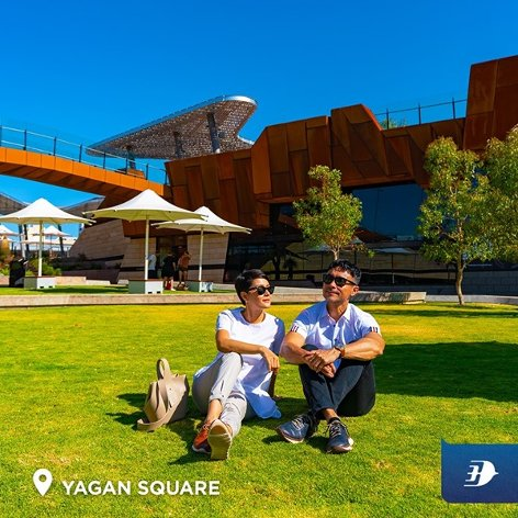 Relax at the scenic Yagan Square