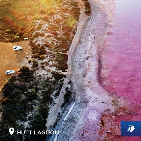 Capture the pink hues at Hutt Lagoon