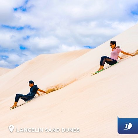 Sandboard at Lancelin sand dunes