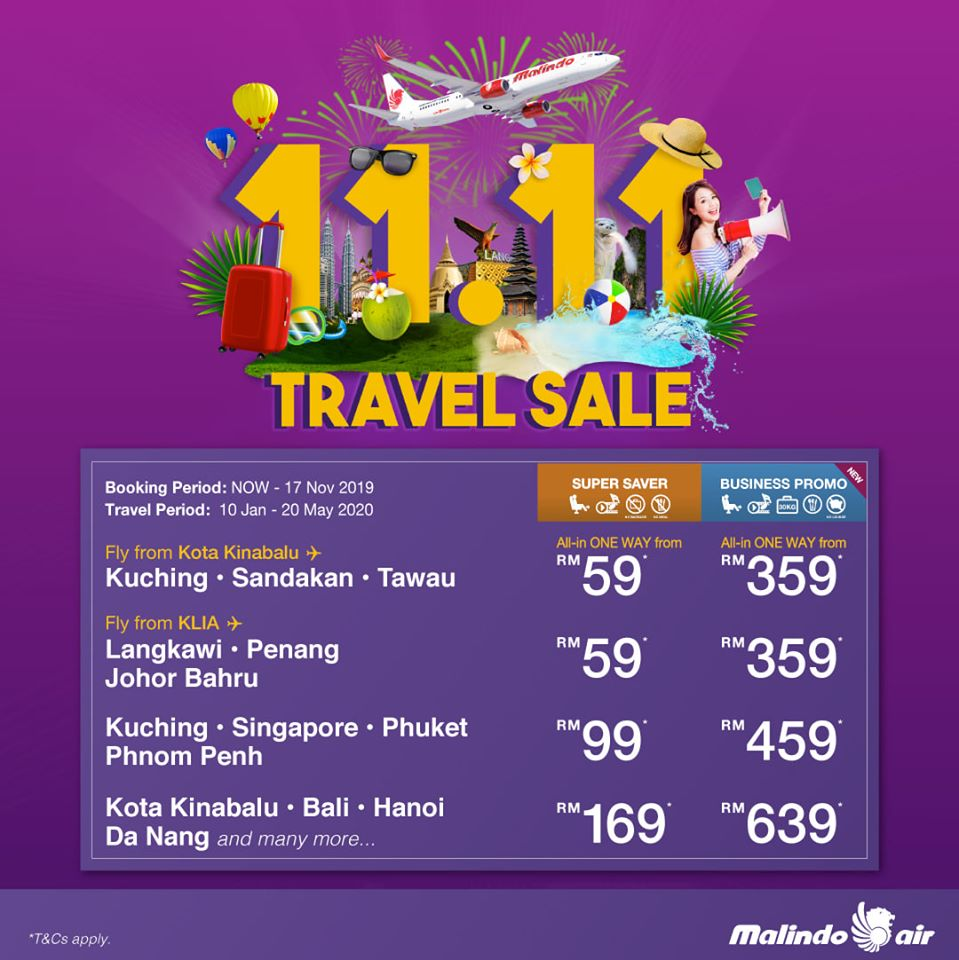 11.11 Travel Sale