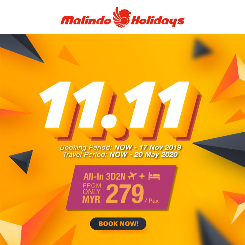 11.11 Malindo Holidays Sale