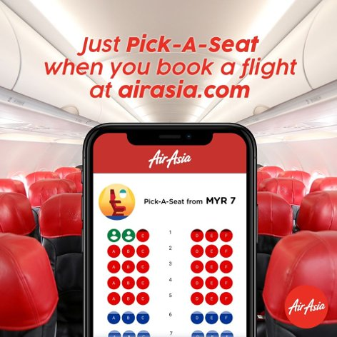Just pick a seat when you book a flight