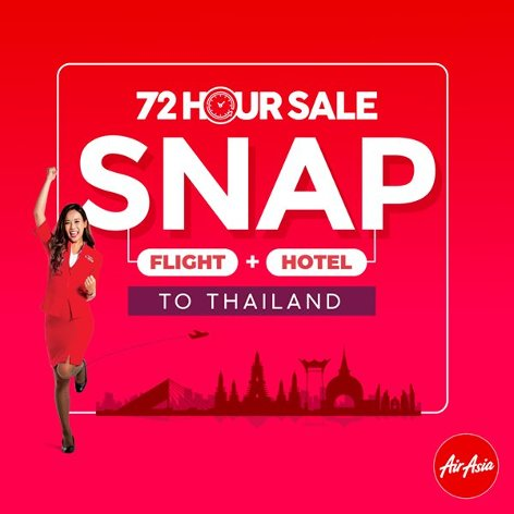 SNAP (Flight + Hotel), 72 hour sale