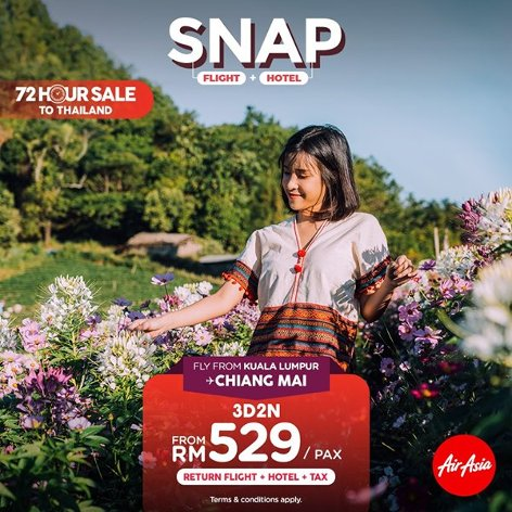 Chiang Mai, 3D2N, from RM529
