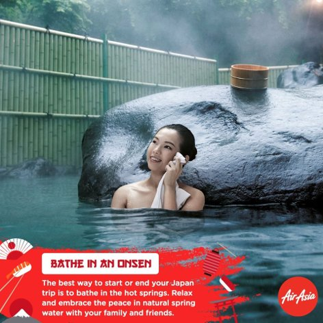 Bathe in an onsen