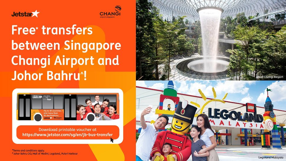 Free transfer between Singapore Changi airport and Johor Bahru