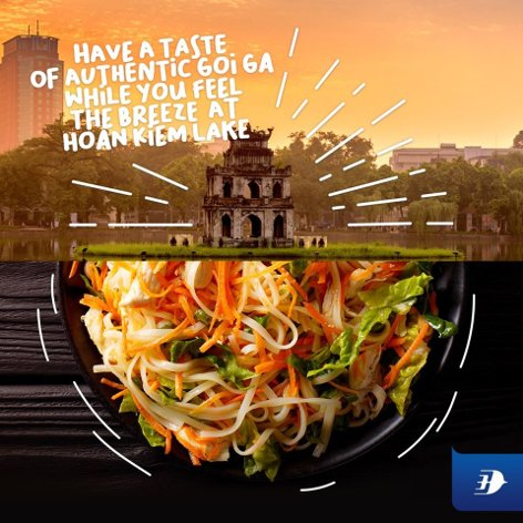 Have a taste of authentic Goi Ga while you feel the breeze at Hoan Kiem Lake