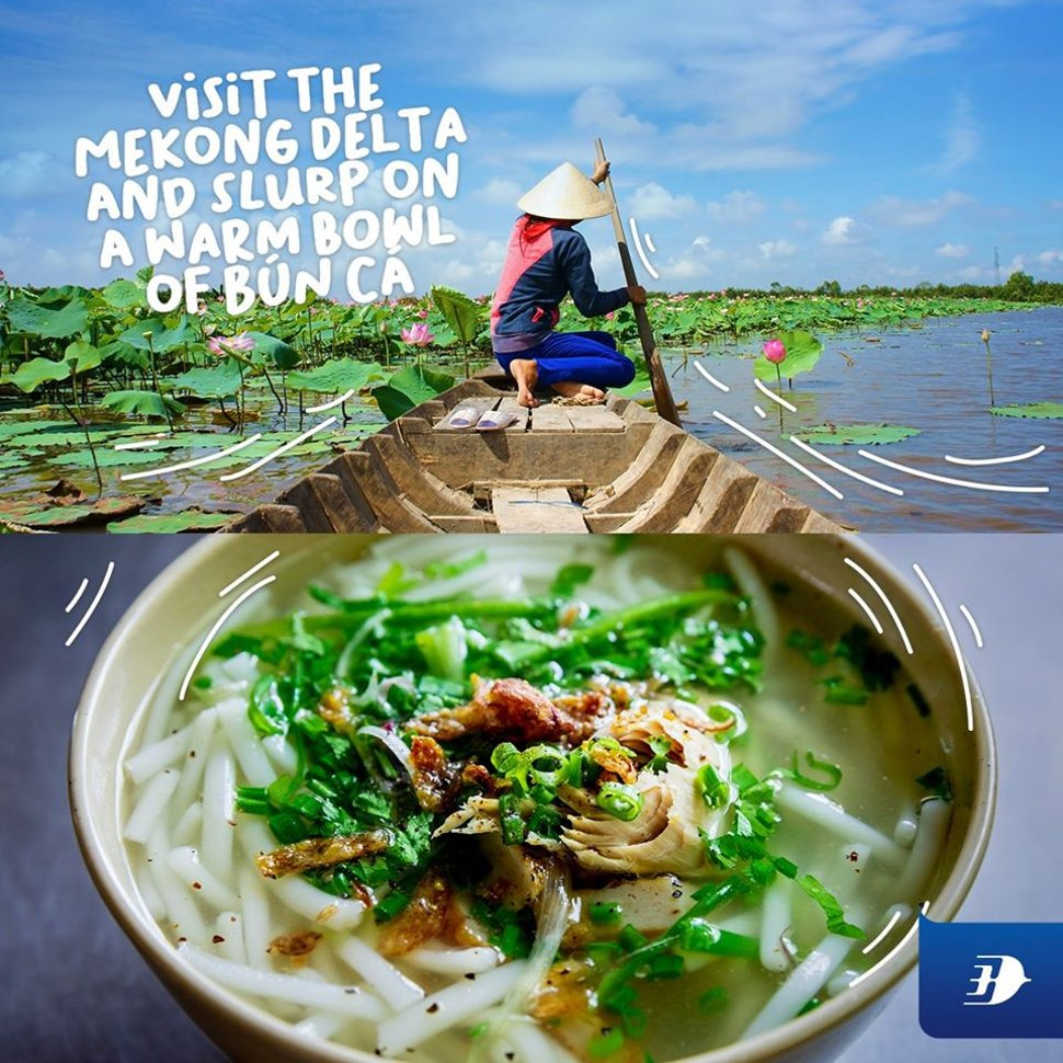Visit the Mekong Delta and slurp on a warm bowl of Bun Ca