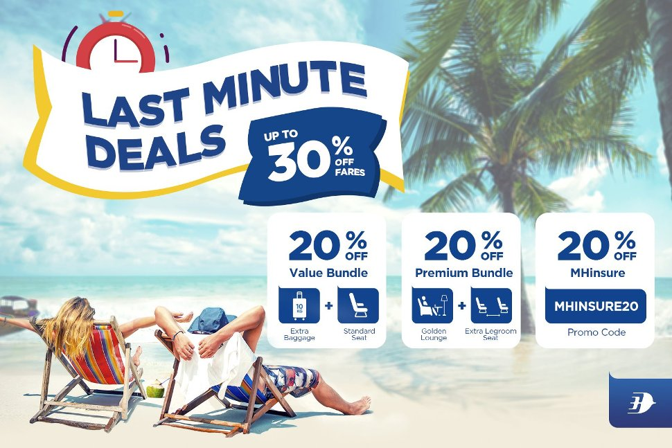 Last Minute Deals, up to 30% off fares
