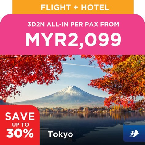 Tokyo, 3D2N all-in per pax from MYR2,099
