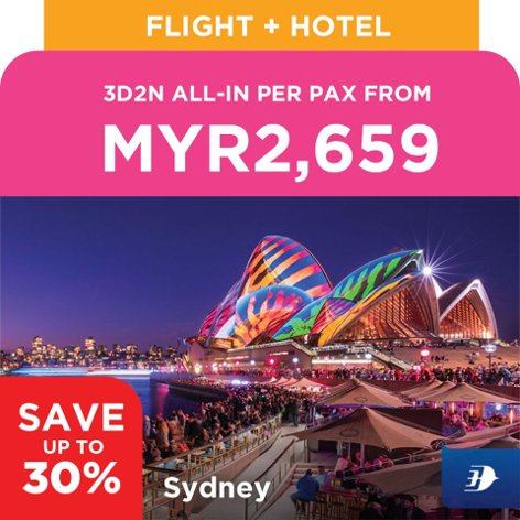 Sydney, 3D2N all-in per pax from MYR2,659
