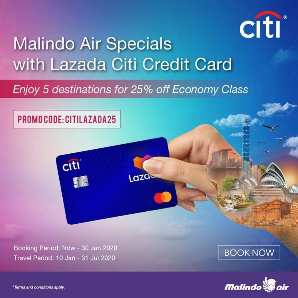 Malindo Air Specials with Lazada Citi credit card