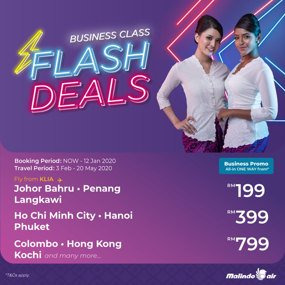 Business Class Flash Deals from RM199!