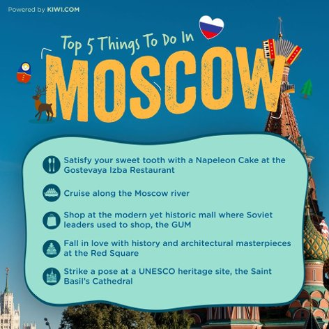 Top 5 things to do in Moscow