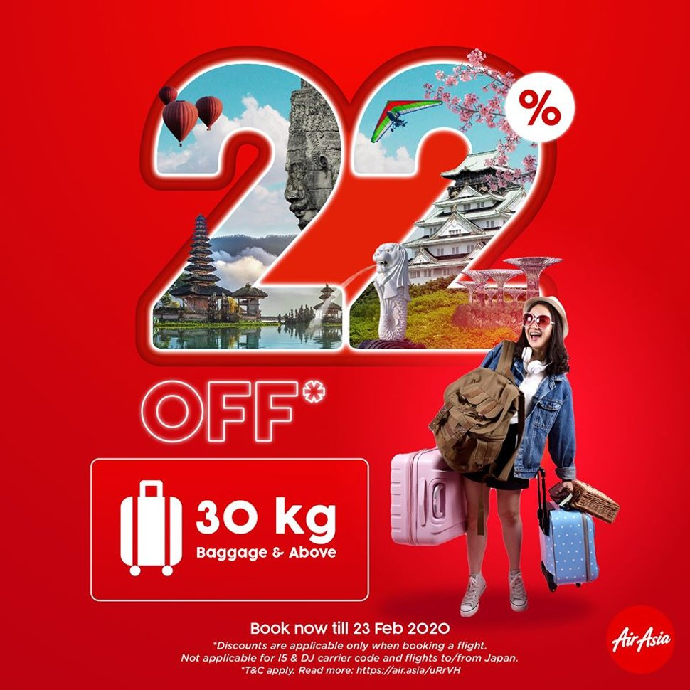 22% Off 30kg baggage and above