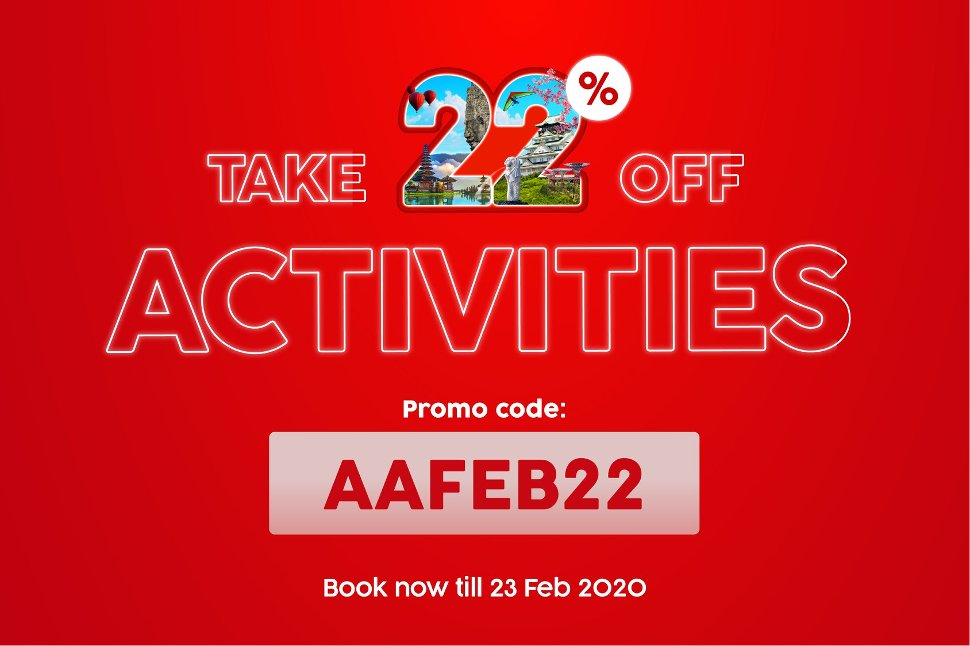 Activities - Take 22% off