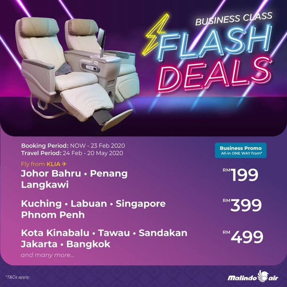 Business Class Flash Deals