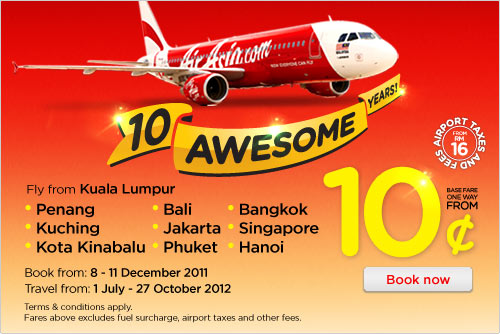 AirAsia Promotion - 10 Awesome Years
