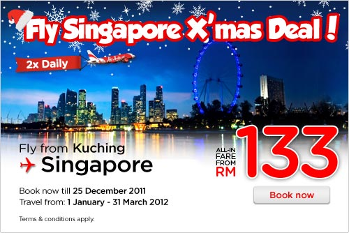 AirAsia Promotion - Fly Singapore X'mas Deal