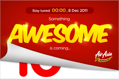 AirAsia Promotion - Something Awesome Is Coming on 8 Dec 2011