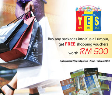 Malaysia Airlines Promotions - FREE Shopping Vouchers