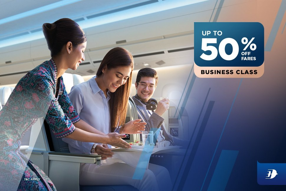 Malaysia Airlines - Up to 50% fares off business class