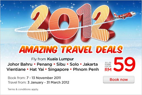 AirAsia Promotion - Amazing Travel Deals 2012