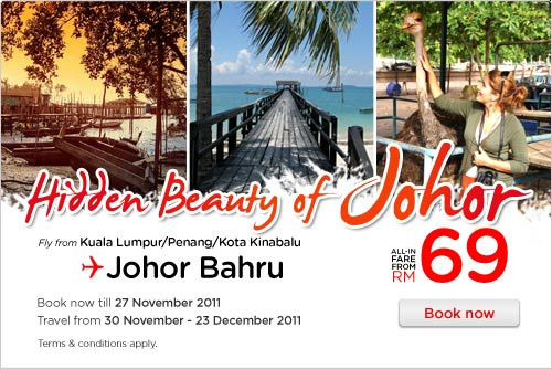 AirAsia Promotion - Hidden Beauty of Johor